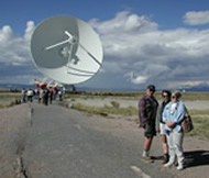 Dick Keyes, Jeanne Keyes, and Letha Keyes at the Very Large Array.